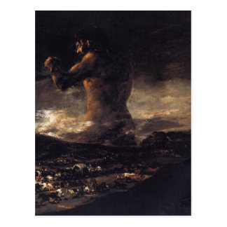 Der Riese (oder der Koloss), durch Francisco Goya Postkarte