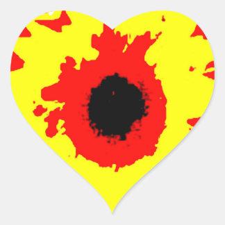 Der riesige Sonnenblume-Aufkleber Herz-Aufkleber