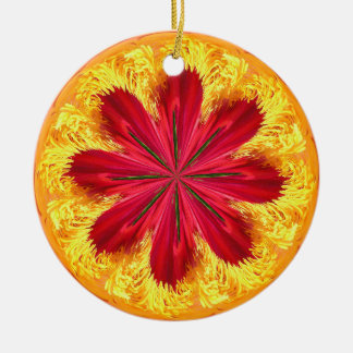 Der Ring des Feuers Keramik Ornament