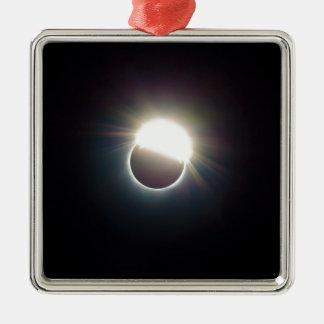 Der Ring von Sonnenfinsternis 2017 Silbernes Ornament