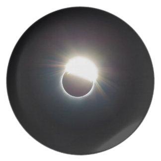 Der Ring von Sonnenfinsternis 2017 Teller