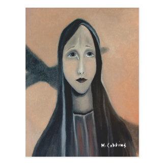 Der Riss einer Mutter Postkarte