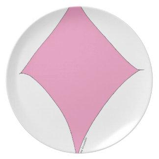 der rosa Diamant Melaminteller