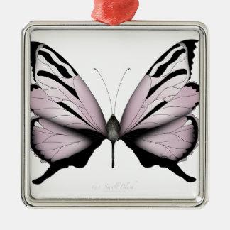 Der rosa kleine Schmetterling erröten Silbernes Ornament