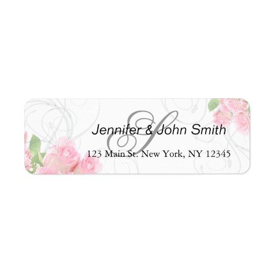 Der rosa Rosen-Wirbel, der | Brautparty wedding Rücksende Aufkleber