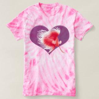 Der rosa T - Shirt der roten weißen Betta
