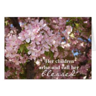 Der rosa Tag der Blumen-Mutter Karte