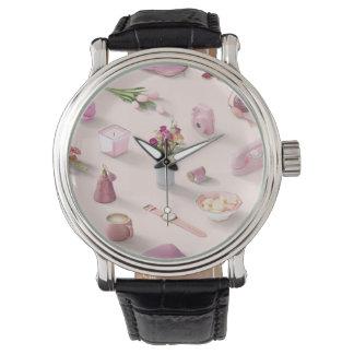 Der rosa Traum des Mädchens Uhr