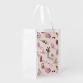 Der rosa Traum des Mädchens Wiederverwendbare Einkaufstasche