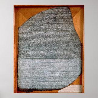 Der Rosetta Stein, von Fort-St. Julien, Poster