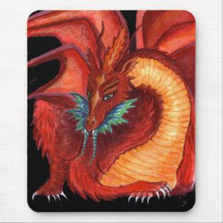 Der rote Drache Mousepads