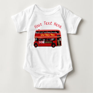 Der rote London-Bus Baby Strampler