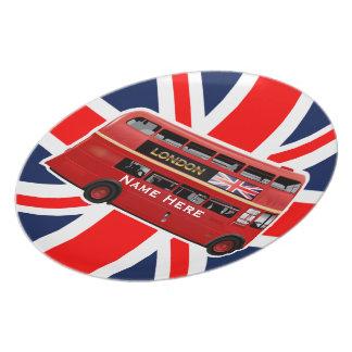 Der rote London-Bus Melaminteller