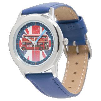 Der rote London-Doppeldecker-Bus Armbanduhr