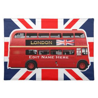 Der rote London-Doppeldecker-Bus Tischset