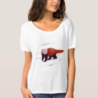 Der rote Panda-Polygon-T - Shirt der Frauen