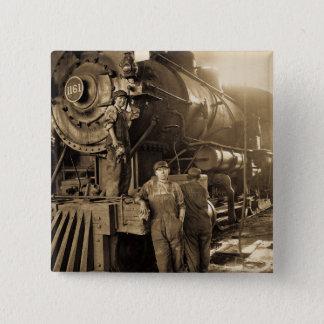 Der Roundhouse Rosies des Ersten Weltkrieges Quadratischer Button 5,1 Cm