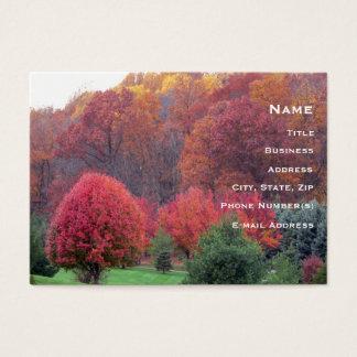 Der Ruhm-Visitenkarte des Herbstes Visitenkarte