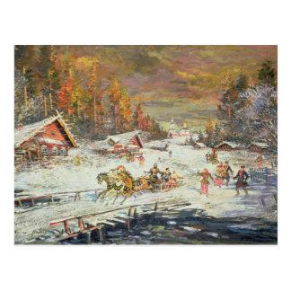 Der russische Winter, 1900-10 Postkarte