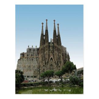 Der Sagrada Familia Barcelona Spanien Postkarte
