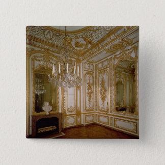 Der Salon de Musique (Musik-Raum) von Adelaide, Quadratischer Button 5,1 Cm