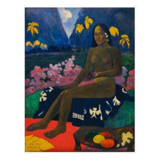 Der Samen des Areoi durch Gauguin Postkarte