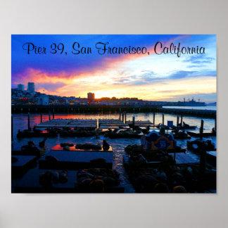 Der San Francisco Pier-39 Plakat Seelöwe-#4-2