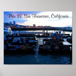 Der San Francisco Pier-39 Plakat Seelöwe-#6-2