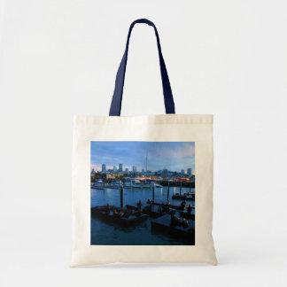 Der San Francisco Pier-39 Taschen-Tasche Tragetasche