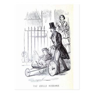 Der sanftmütige Ehemann Postkarte