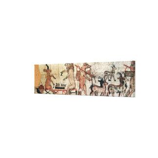 Der Satirical Papyrus Gespannter Galerie Druck