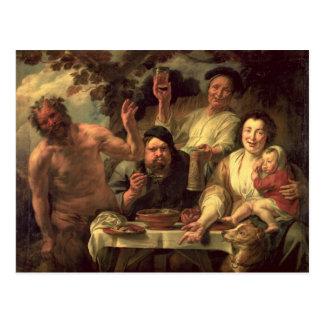 Der Satyr und die Bauern Postkarte