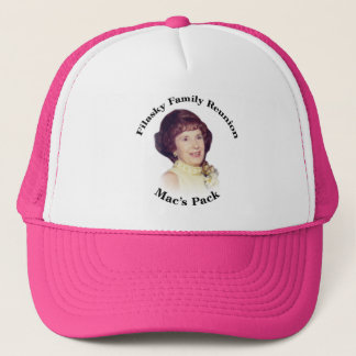 Der Satz-Rosa-Hut des Mac Truckerkappe
