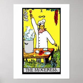 Der Sauceress Plakat-Druck Poster