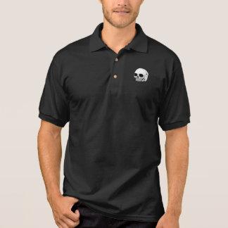 Der Schädel-Polo-Shirt der Männer (Schwarzes) Polo Shirt