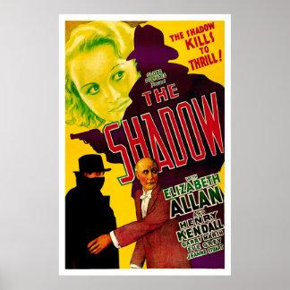 Der Schatten - Vintages Film-Plakat 1933
