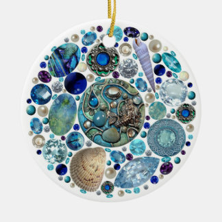 Der Schatz 1 der Meerjungfrau Keramik Ornament