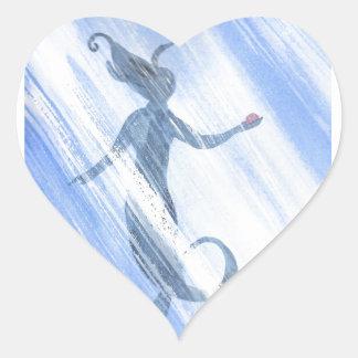 Der Schatz der Meerjungfrau Herz-Aufkleber