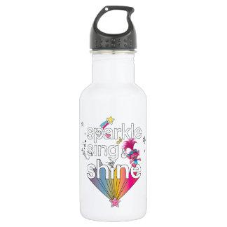 Der Schein der Mohnblume der Schleppangel-| singen Trinkflasche