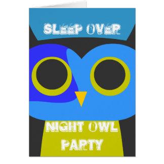 Der Schlaf des Kindes über Party lädt ein Karte