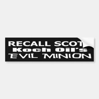 Der schlechte Günstling Öls Rückruf-GouverneurRick Auto Sticker