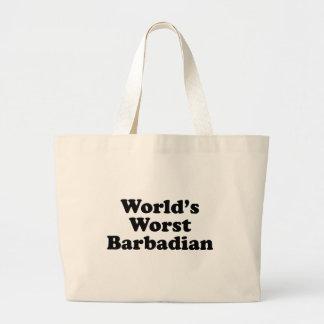 Der schlechteste Barbadian der Welt Jumbo Stoffbeutel