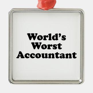 Der schlechteste Buchhalter der Welt Quadratisches Silberfarbenes Ornament