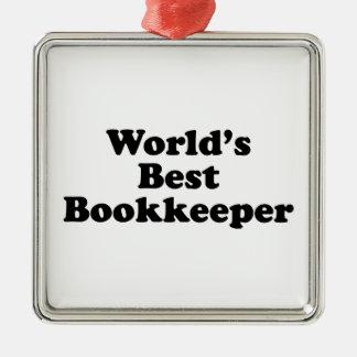 Der schlechteste Buchhalter der Welt Silbernes Ornament