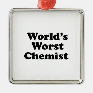 Der schlechteste Chemiker der Welt Quadratisches Silberfarbenes Ornament