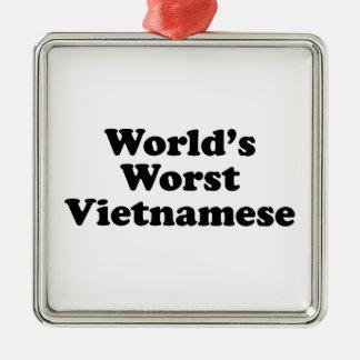 Der schlechteste Vietnamese der Welt Quadratisches Silberfarbenes Ornament