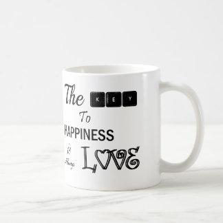 Der Schlüssel zum Glück ist Liebe Tasse