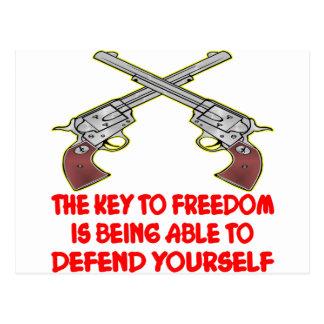 Der Schlüssel zur Freiheit ist in der Lage zu Postkarte