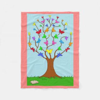 Der Schmetterlings-Baum Fleecedecke