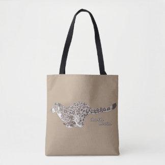 Der Schnee-Leopard, der vorbei alle laufen lässt - Tasche